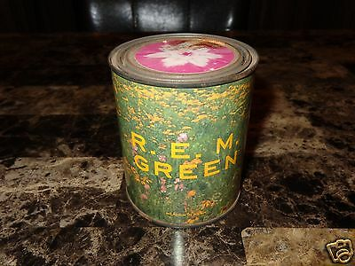 R.E.M. Rare Green Promo Seed Can Mike Mills Peter Buck Michael Stipe Bill Berry