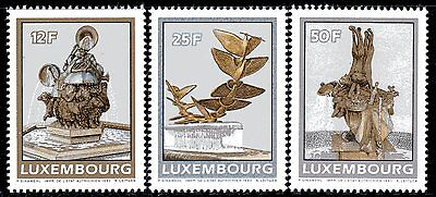 Luxembourg Y&T 1198/00 - SCULPTURES FOUNTAINS  - 1990  **MNH
