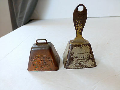 2 VTG Advertising Metal BELLS Kerber Electric Co & Acorn Refining Oil Co Radio