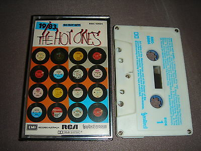 1983 THE HOT ONES VARIOUS ARTISTS Audio Cassette Tape: