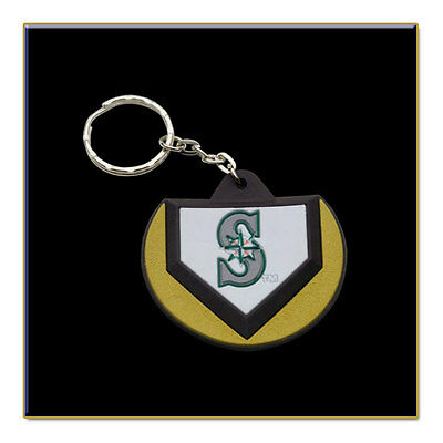Two Seattle Mariners MLB Home Plate Key Chains - Stock Clearance Sale!