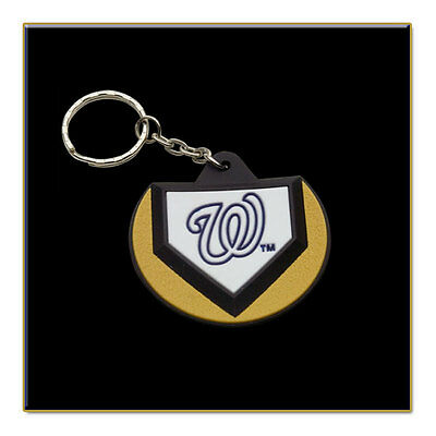 Two Washington Nationals MLB Home Plate Key Chain - Stock Clearance Sale!