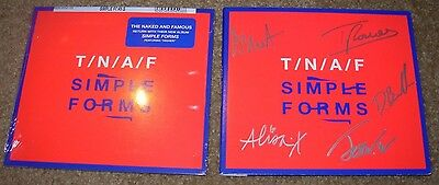 THE NAKED AND FAMOUS Hand Signed Autographed CD Booklet New SIMPLE FORMS TNAF