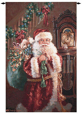 Christmas Santa ~ Not A Creature Was Stirring Grande Tapestry Wall Hanging