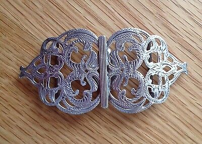 Beautiful Solid Silver Nurses Belt Buckle Chester 1905 by J&R Griffin