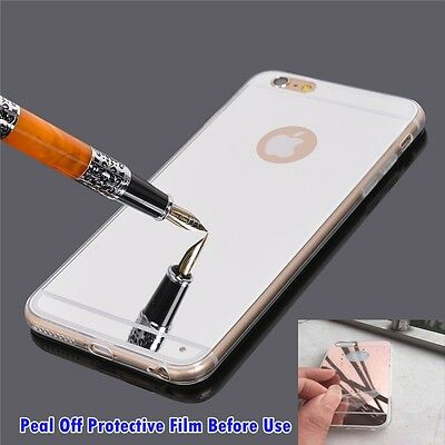 Luxury Ultra-thin TPU Silver Mirror Metal Case Cover for iPhone 6 Plus [lv268