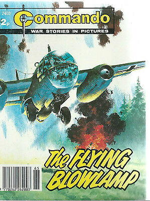 The Flying Blowlamp,commando War Stories In Pictures,no.2403,war Comic,1990