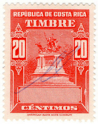 (I.B) Costa Rica Revenue : Duty Stamp 20c