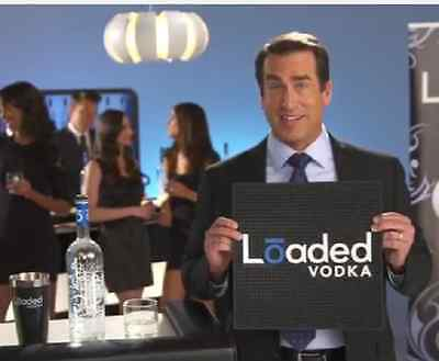 """Loaded Vodka Bar Rail Spill Mat Square 20"""" x 20"""" x .5"""" Rubber Thick Rob Riggle"""