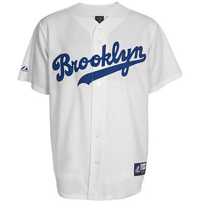 Brooklyn Dodgers Cooperstown Replica MLB White Jersey XL