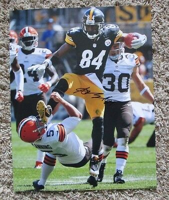 RARE ANTONIO BROWN AUTOGRAPH SIGNED 11 x 14 PHOTO PITTSBURGH STEELERS SWEET PIC