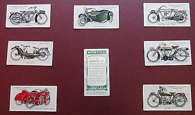 Motor Cycles Issued 1923 By L & Butler Set 50