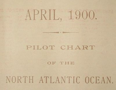1900 Antique Nautical Sea Sailing Chart Map Atlantic USA Canada Europe Africa #3