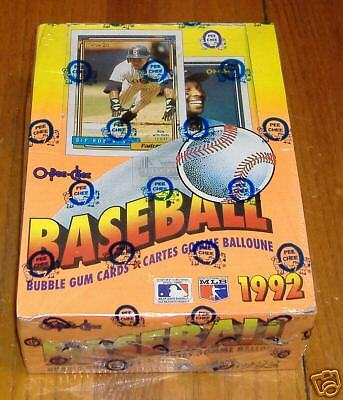 OPC baseball  unopened  1992