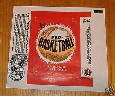 basketball wax pack wrapper 1979 topps