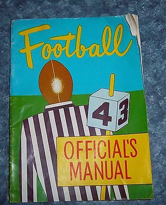 Football Official's manual   1943