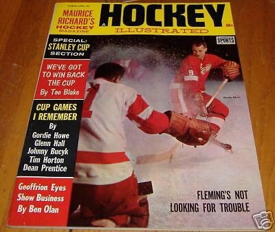 hockey illustrated  march 1963   gordie howe cover