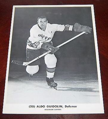 Baltimore Clippers Aldo Guidolin 1964-1965  from the Woody Ryan Collection