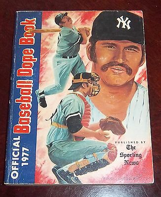 The Sporting News Dope Book  1977 Thurman Munson