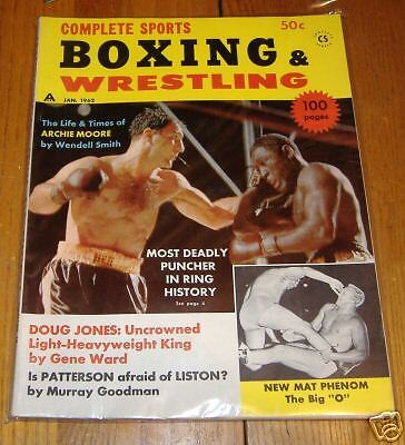boxing & wrestling    january1962   rocky marchanio