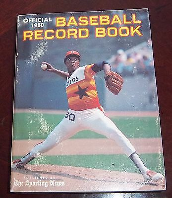 The Sporting News  Official Baseball Record Book  J.R. Richard 1980