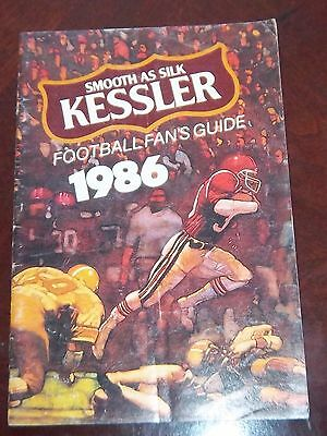 Kessler Football Fans Guide 1986