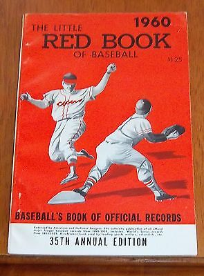 The Little Red Book of Baseball 1960   Baseball's Book of Official Records