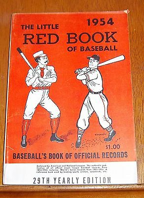 The Little Red Book of Baseball 1954   Baseball's Book of Official Records