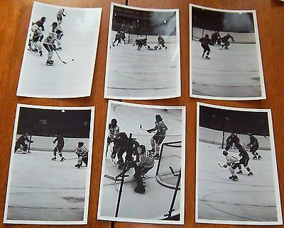 WHA  chicago cougars vs los angeles sharks  6 photos 1970's lot # 4