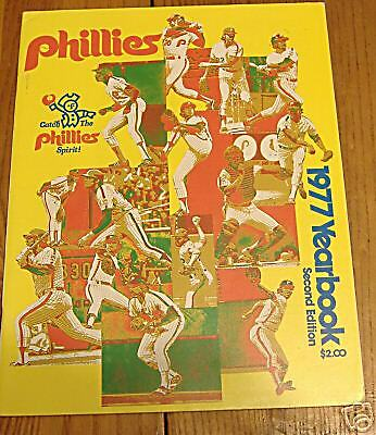 phillies yearbook 1977 second edition