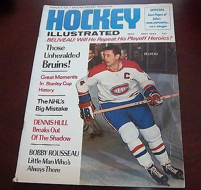 Jean Beliveau Hockey Illustrated  May 1969