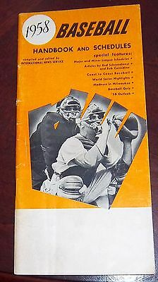 Baseball handbook and schedules 1958 Mickey Mantle