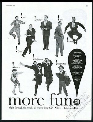 1955 Sid Caesar Groucho Marx Dean Martin Jerry Lewis photo NBC vintage print ad