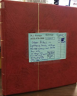 {BJ Stamps} Great Britain in Lighthouse album, 1953-1988, MNH. Cat. Value $1223.
