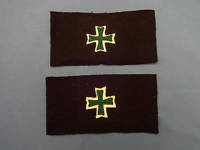 Pair Us Army Hospital Private First Clas Maltese Cross Chevron 1902 Pat Pfc Medi