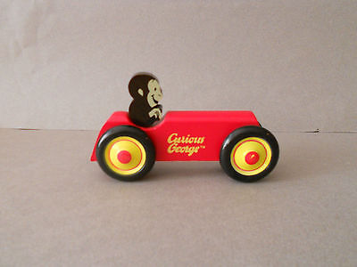 Schylling Curious George Wood Car Excellent Condition
