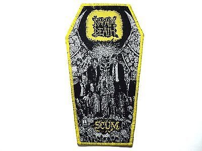 Napalm  Death  Scum  Coffin  Yellow  Border Woven Patch