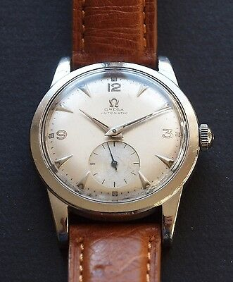 !! Superbe Omega 40's Automatic Bumper Montre Ancienne Vintage Watch Serviced !!