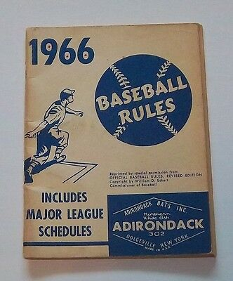 Official Baseball rules  & schedules 1966