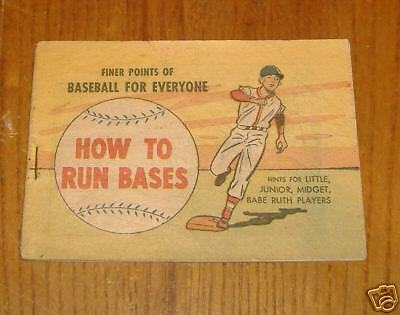 finer points of baseball for everyone 1966 booklet