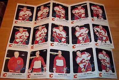 Calgary Flames hockey card set 1986-87 Red Rooster