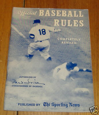 the sporting news offical baseball rules 1957