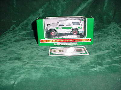 2014 Hess Toy Trucks Easter Gift Miniature Sport Utility Vehicle Truck Toys