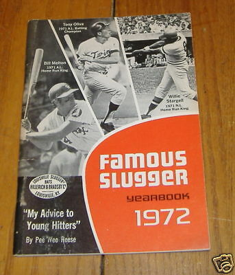 famous slugger yearbook 1972   willie stargell