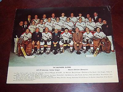 Baltimore Clippers Hockey Team Photo 1971-1972  from the Woody Ryan Collection