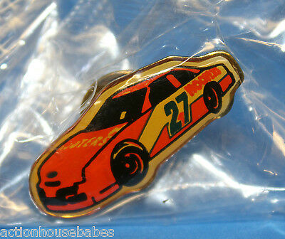 Hooters Restaurant Collectable Orange Race Car #27 Lapel Pin