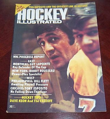 Hockey illustrated  April 1974 Phil Esposito / Bobby Orr   with color inserts