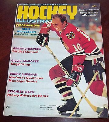 Hockey illustrated  March 1973 Dennis Hull   with color inserts