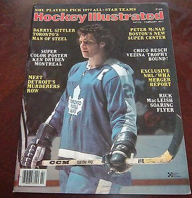 Hockey illustrated  February 1977 Darryl Sittler with color inserts