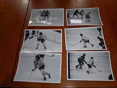 WHA  chicago cougars vs  6 photos 1970's lot # 16